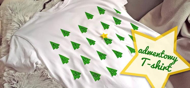t-shirt z kalendarzem adwentowym