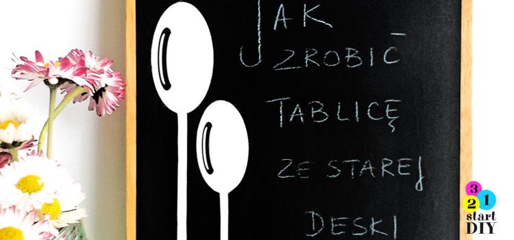 tablica z deski do krojenia