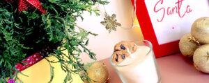 Świąteczna świeczka – mleko i ciasteczko dla Mikołaja
