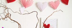Papierowa girlanda w wersji romantycznej