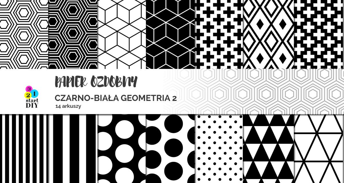 Papier ozdobny do druku, czarno-białe wzory