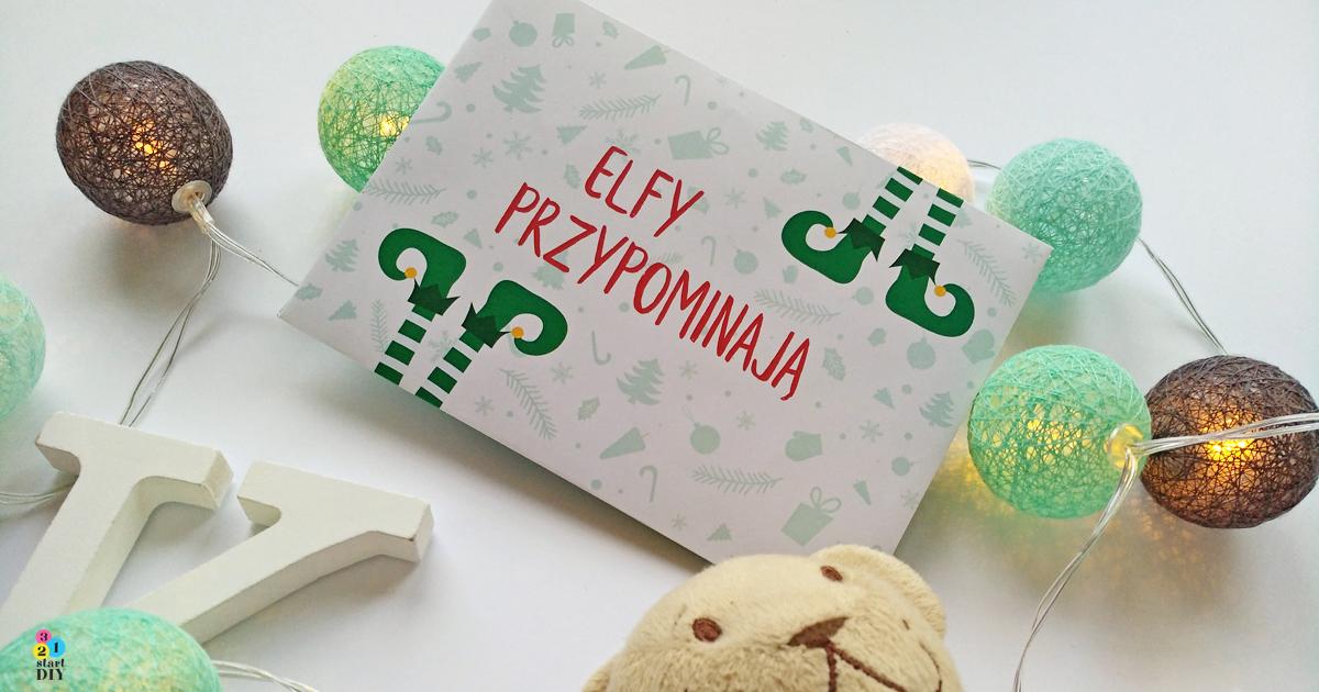 elfy świętego Mikołaja przypominają o grzecznym zachowaniu