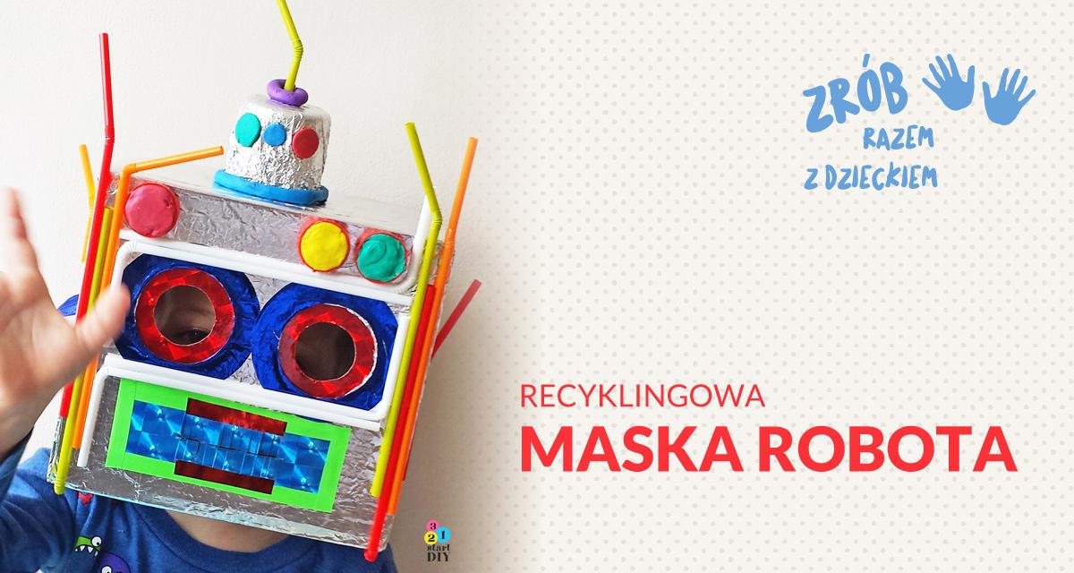 mska dla dzieci - robot z recyklinfu