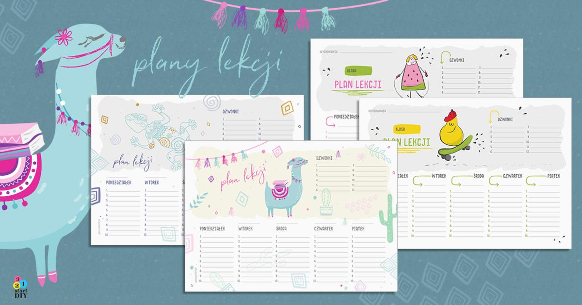 plany lekcji do wydrukowania
