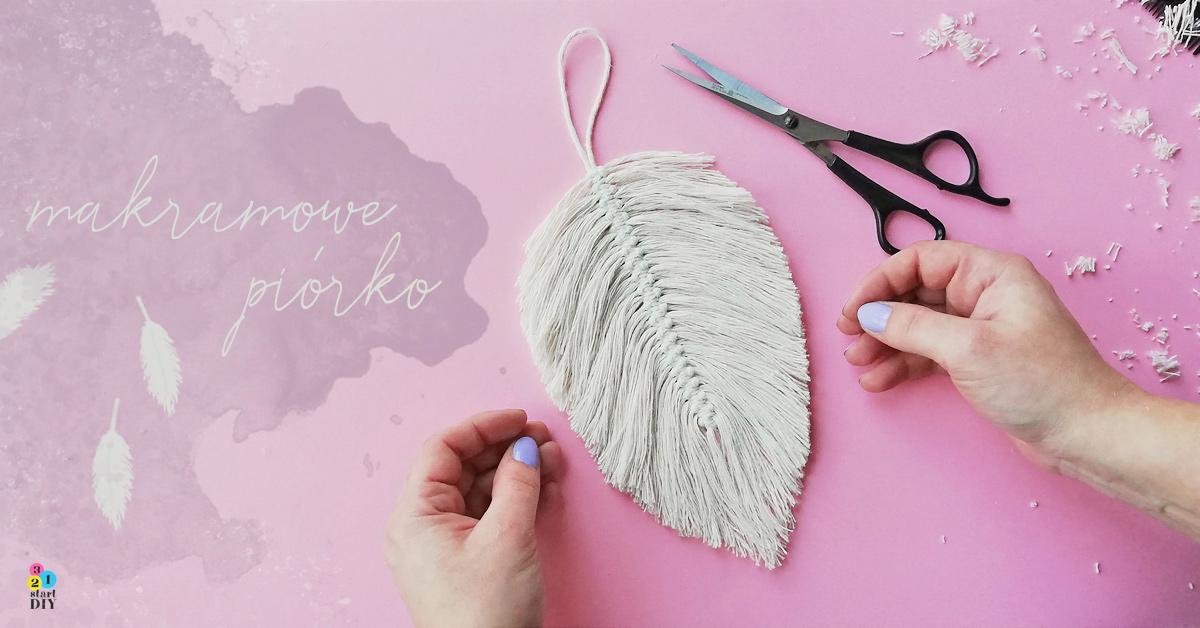 Piórko ze sznurka DIY - makramowa dekoracja w stylu boho