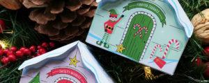 Fabryka Elfów i domek Świętego Mikołaja – pudełka na świąteczne upominki