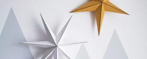 Gwiazda z papieru – piękna dekoracja diy // z szablonem lub bez
