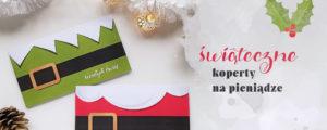 Świąteczny prezent w kopercie – opakowania do druku