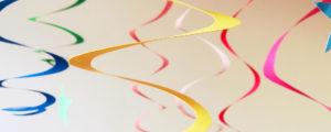 Spirale – wiszące dekoracje na bal karnawałowy + szablony