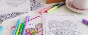 Uniwersalna kartka z sercem – do kolorowania
