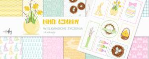 Wielkanocne życzenia – papier ozdobny #12 + bonus