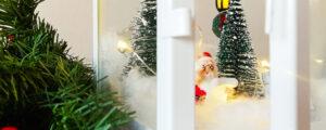 Świąteczny lampion – miniaturki w latarence