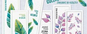 Liściaste zakładki do książek – pobierz i wydrukuj