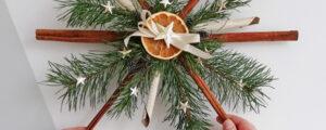 Świąteczna gwiazda z cynamonu i jodły
